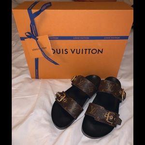 Louis Vuitton bom dia flat mule slides